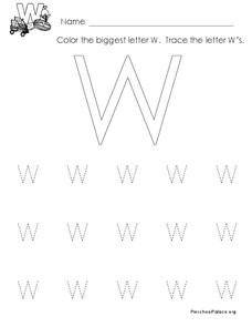 The Letter W Lesson Plan