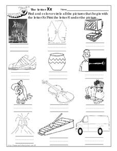 The Letter Xx Worksheet