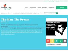 The Man, The Dream Lesson Plan
