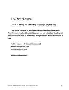 The Math Lesson 7 Worksheet