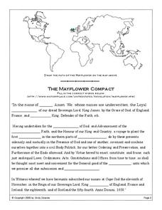 the mayflower compact worksheet for 4th 5th grade lesson planet. Black Bedroom Furniture Sets. Home Design Ideas