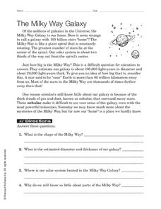 Milky Way Lesson Plans & Worksheets Reviewed by Teachers