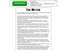 The Mitten Worksheet