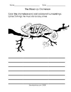 The Mixed-Up Chameleon Worksheet