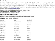 The Name Game Lesson Plan