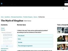 The Myth of Sisyphus Interactive