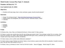 Animals Lesson Plan