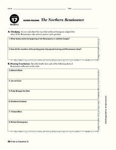 The Northern Renaissance Worksheet