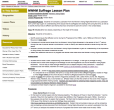Suffrage Lesson Plan Lesson Plan