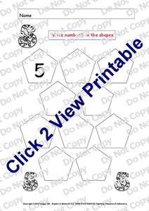 The Number Five Worksheet