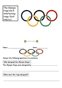 The Olympic Rings Worksheet