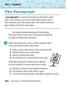 The Paragraph Worksheet