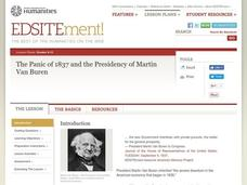 The Panic of 1837 And the Presidency of Martin Van Buren Lesson Plan