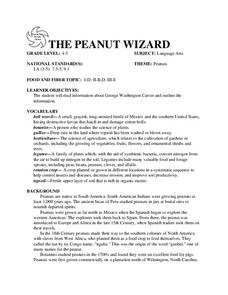 THE PEANUT WIZARD Lesson Plan
