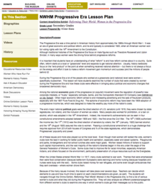 Progressive Era Lesson Plan Lesson Plan