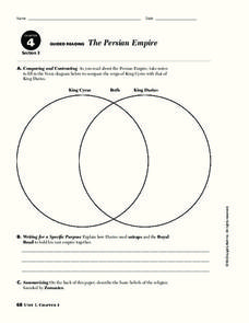 The Persian Empire Worksheet