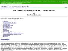 The Physics of Sound: How We Produce Sounds Lesson Plan