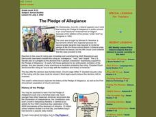 The Pledge of Allegiance Lesson Plan