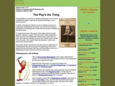 The Play's the Thing Lesson Plan