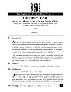 The Poetry of Art: An Interdisciplinary Lesson in Art and Creative Writing Lesson Plan