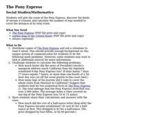 The Pony Express Lesson Plan