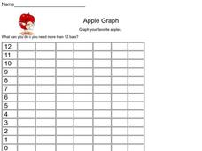Apple Graph Worksheet