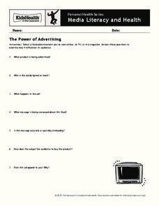 The Power of Advertising Worksheet