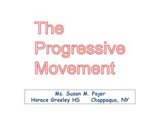 The Progressive Movement Presentation