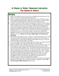 The Queen of Hearts Lesson Plan