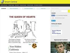 The Queen of Hearts Worksheet