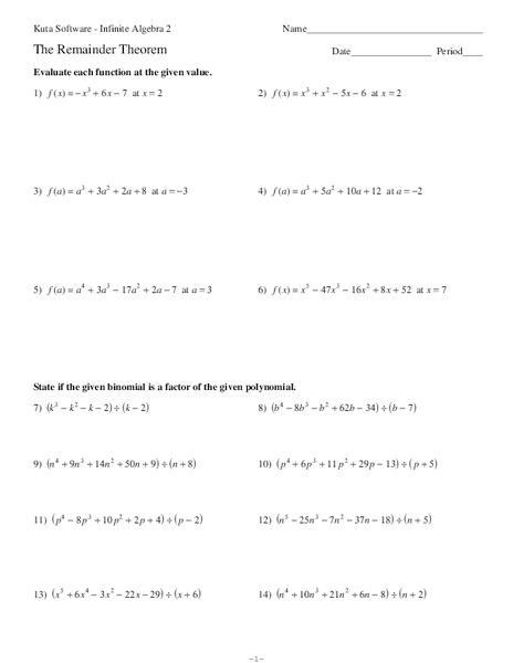Worksheets Remainder Theorem Worksheet remainder theorem worksheet counting number worksheets division of polynomials