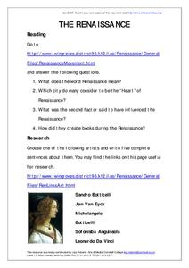 The Renaissance Worksheet