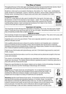 The Rise of Islam Worksheet