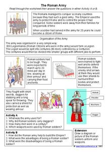 The Roman Army Worksheet
