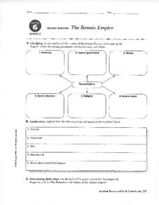 The Roman Empire Worksheet