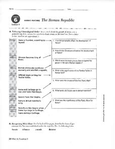 the roman republic worksheet for 9th 10th grade lesson planet. Black Bedroom Furniture Sets. Home Design Ideas