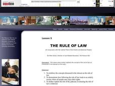 The Rule of Law Lesson Plan