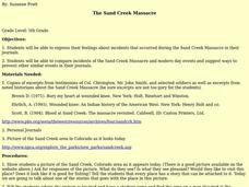 The Sand Creek Massacre Lesson Plan