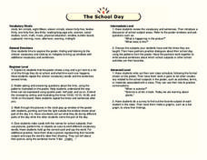 The School Day Lesson Plan