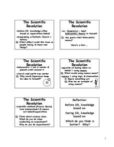 The Scientific Revolution Lesson Plan
