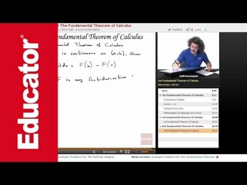 The Second Fundamental Theorem of Calculus Video