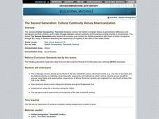 The Second Generation: Cultural Continuity Versus Americanization Lesson Plan