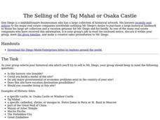 The Selling of the Taj Mahal or Osaka Castle Lesson Plan