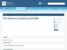 The Sentence Contest Lesson Plan