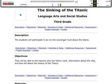 The Sinking of the Titanic Lesson Plan