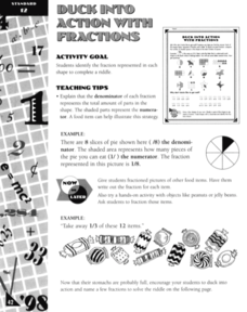 Duck Into Action With Fractions Worksheet