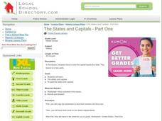 The States and Capitals - Part One Lesson Plan