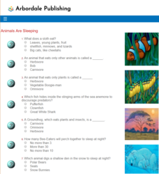 Animals are Sleeping: FCM Quiz Interactive