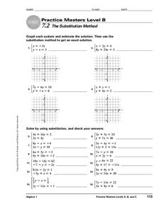 The Substitution Method Worksheet