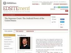 The Supreme Court: The Judicial Power of the United States Lesson Plan